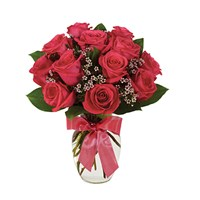 Hot pink rose bouquet (BF240-11KM)